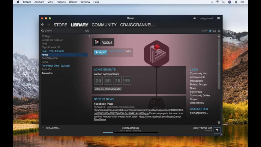 Steam for Mac - review, screenshots