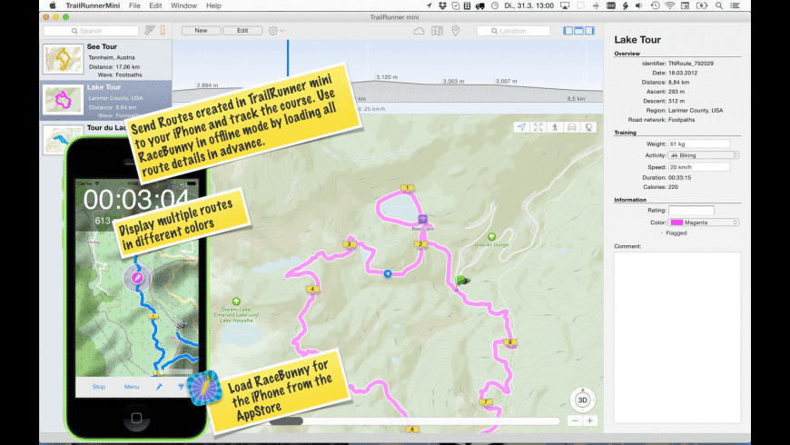 TrailRunner mini for Mac - review, screenshots