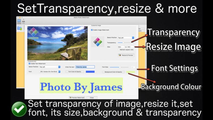 Batch Photo Watermark for Mac - review, screenshots