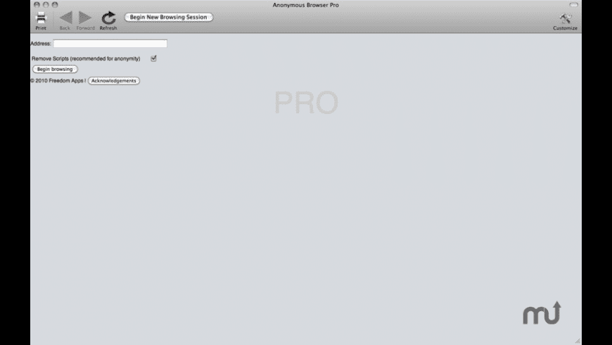 Anonymous Browser Pro for Mac - review, screenshots