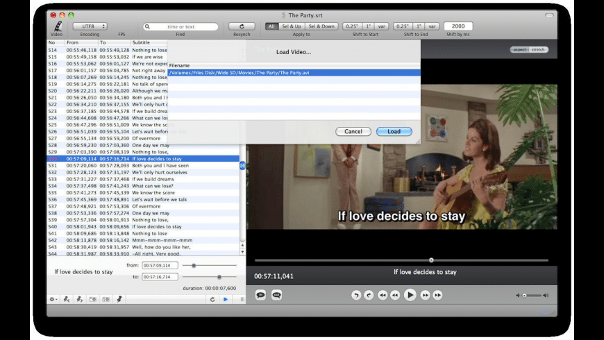 Subtitles theEditor for Mac - review, screenshots