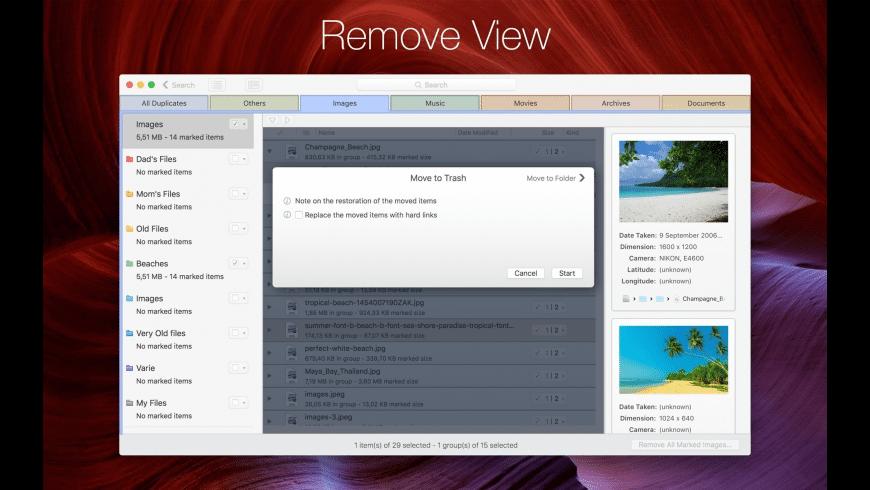 DupeZap for Mac - review, screenshots