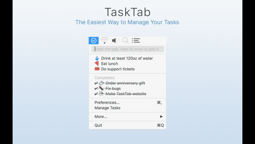 TaskTab for Mac - review, screenshots