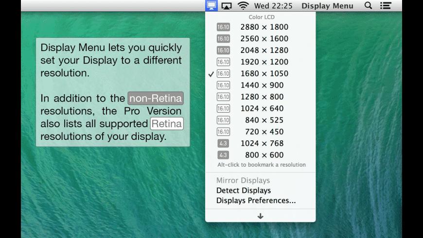 Display Menu for Mac - review, screenshots
