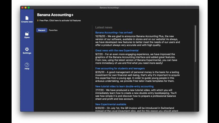 Banana Accounting+ for Mac - review, screenshots