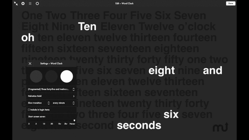 Word Clock for Mac - review, screenshots