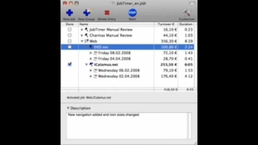 JobTimer for Mac - review, screenshots