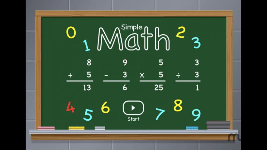 Simple Math for Mac - review, screenshots