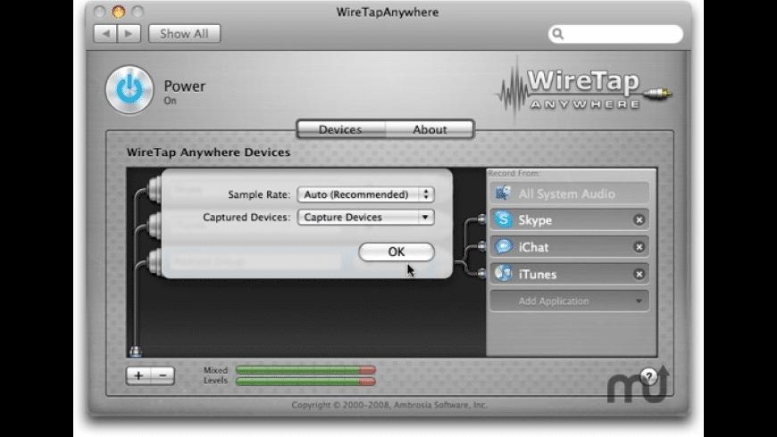 WireTap Anywhere for Mac - review, screenshots