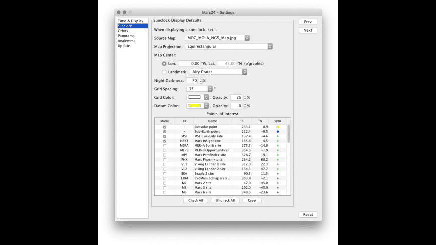 Mars24 for Mac - review, screenshots