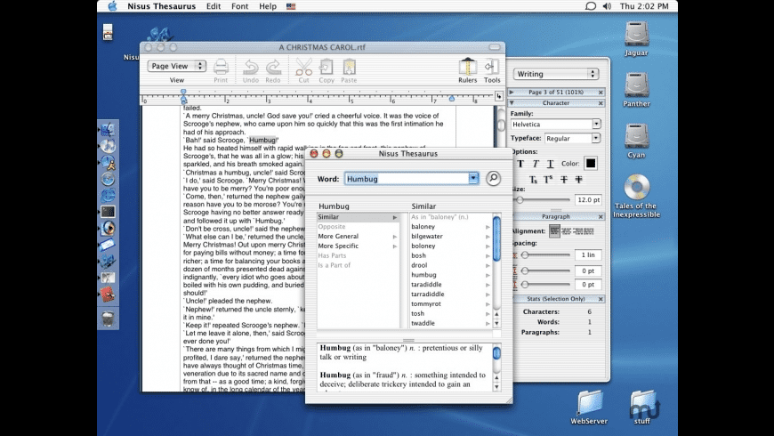 Nisus Thesaurus for Mac - review, screenshots