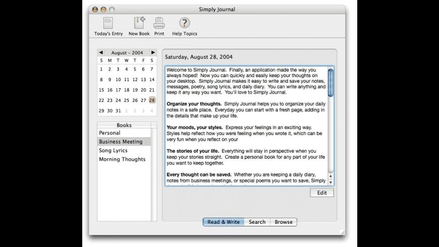 Simply Journal for Mac - review, screenshots