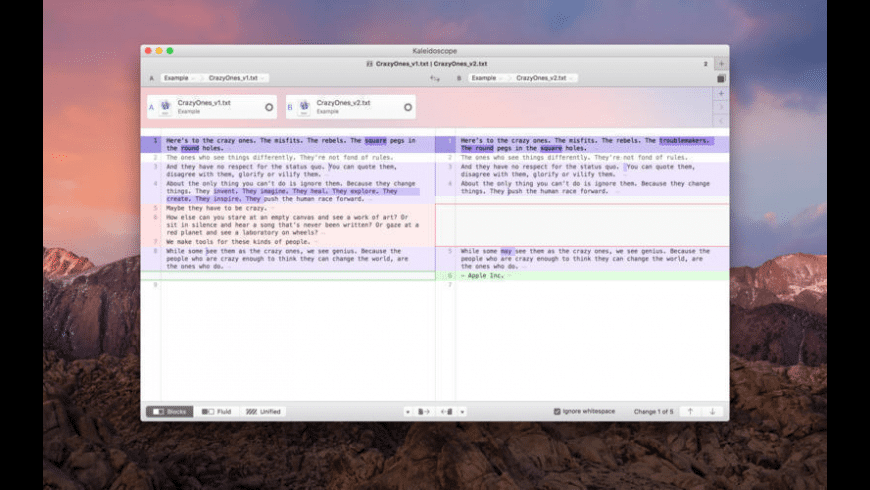 Kaleidoscope for Mac - review, screenshots
