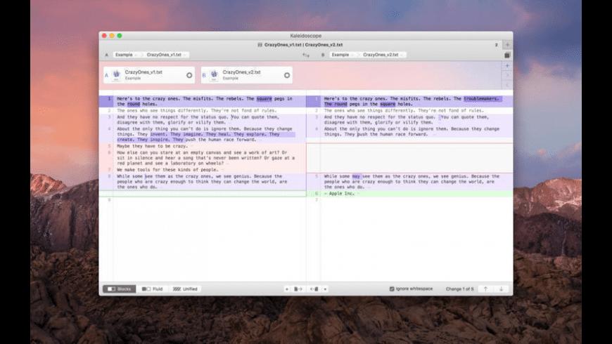 Kaleidoscope for Mac - review, screenshots