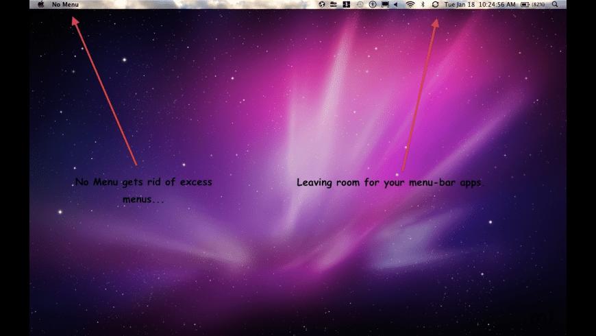 No Menu for Mac - review, screenshots