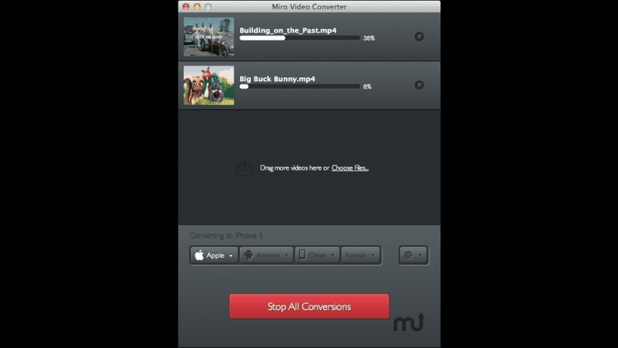 Miro Video Converter for Mac - review, screenshots
