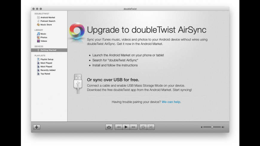 doubleTwist for Mac - review, screenshots