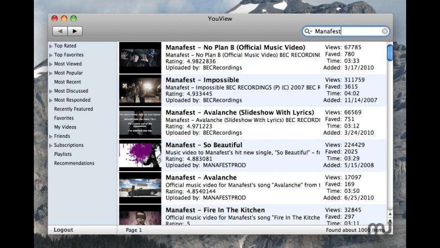 YouView for Mac - review, screenshots