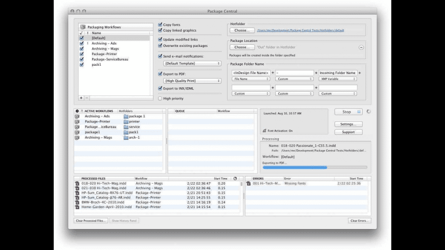 Package Central for Mac - review, screenshots