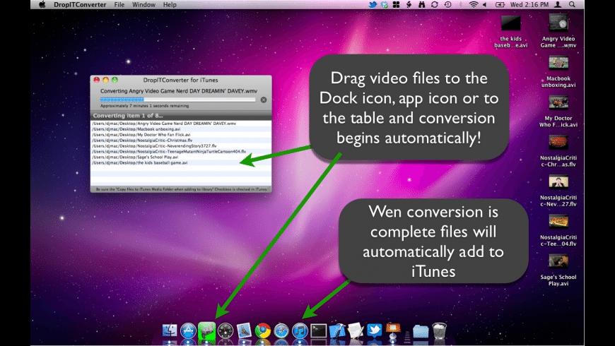 DropITConverter for Mac - review, screenshots