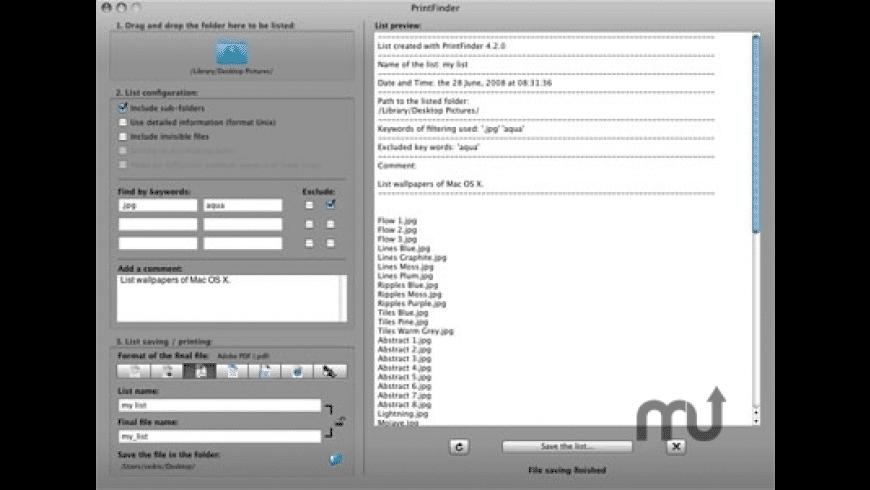 PrintFinder for Mac - review, screenshots