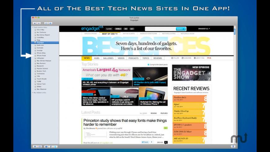 Tech Junkie for Mac - review, screenshots
