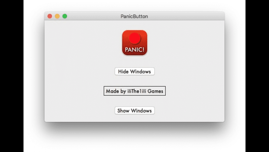 Panic Button for Mac - review, screenshots