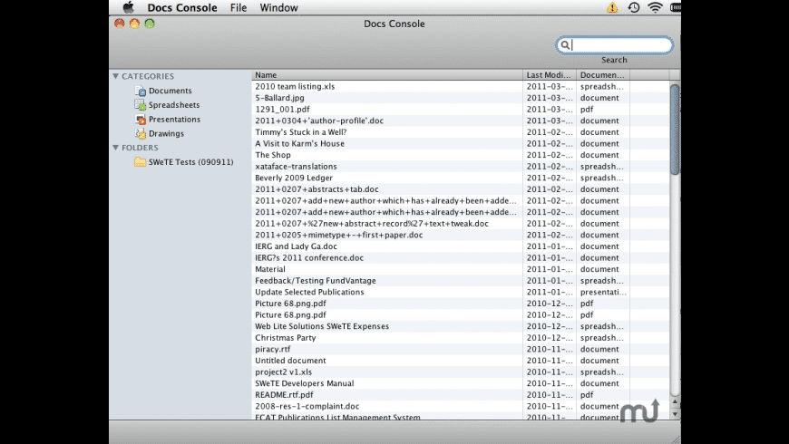 Docs Console for Mac - review, screenshots