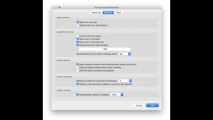 HistoryHound for Mac - review, screenshots