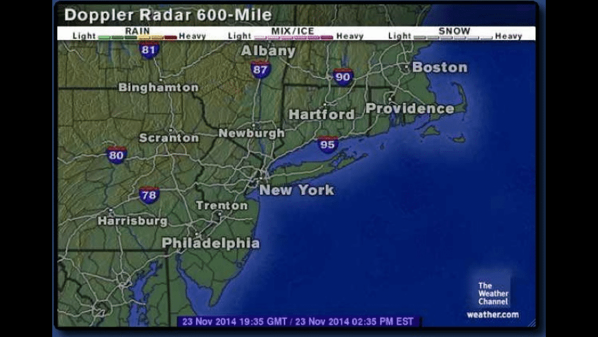 Radar In Motion for Mac - review, screenshots