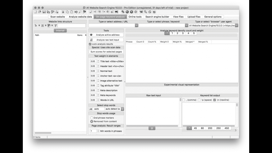 A1 Website Search Engine for Mac - review, screenshots