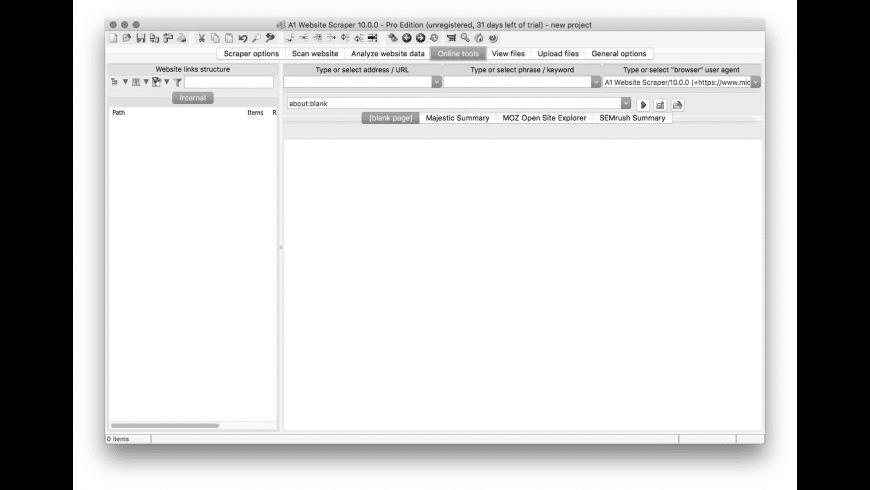 A1 Website Scraper for Mac - review, screenshots