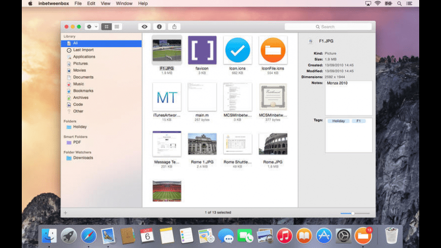 inbetweenbox for Mac - review, screenshots