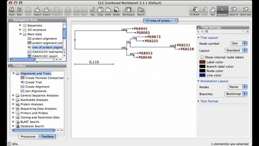 CLC Sequence Viewer for Mac - review, screenshots
