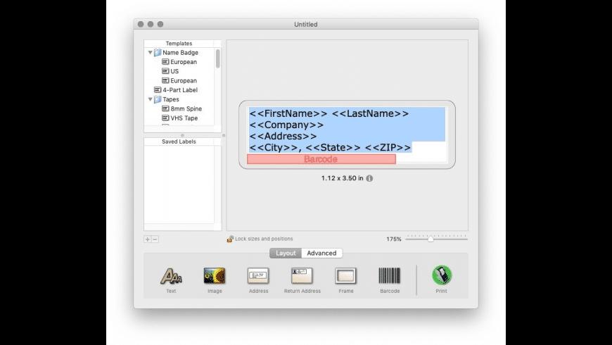 Smart Label Printer for Mac - review, screenshots