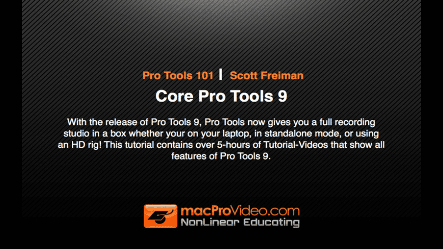 Pro Tools 101 for Mac - review, screenshots