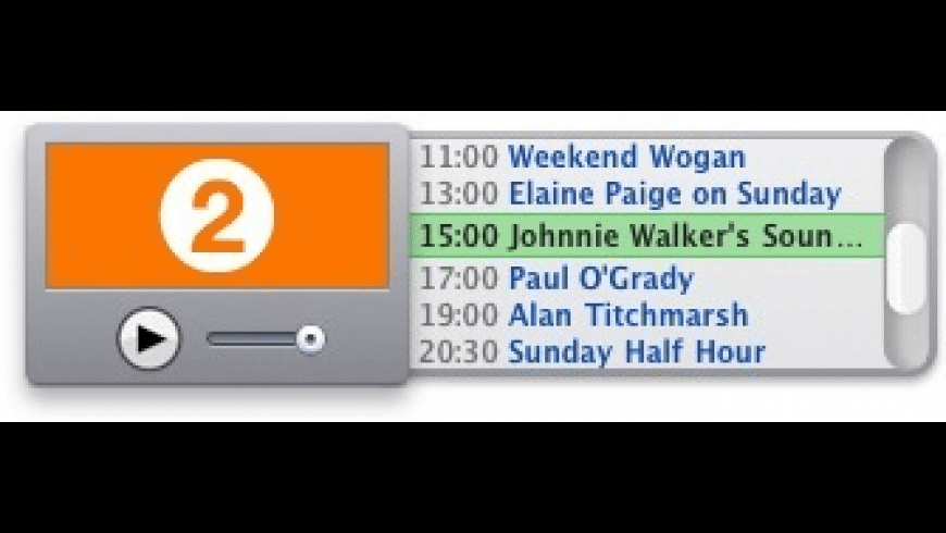 BBC Radio Widget for Mac - review, screenshots