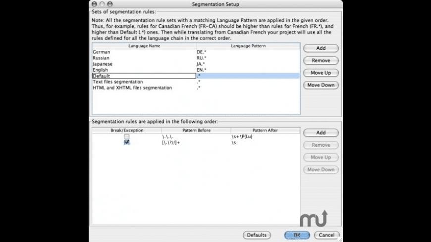 OmegaT for Mac - review, screenshots