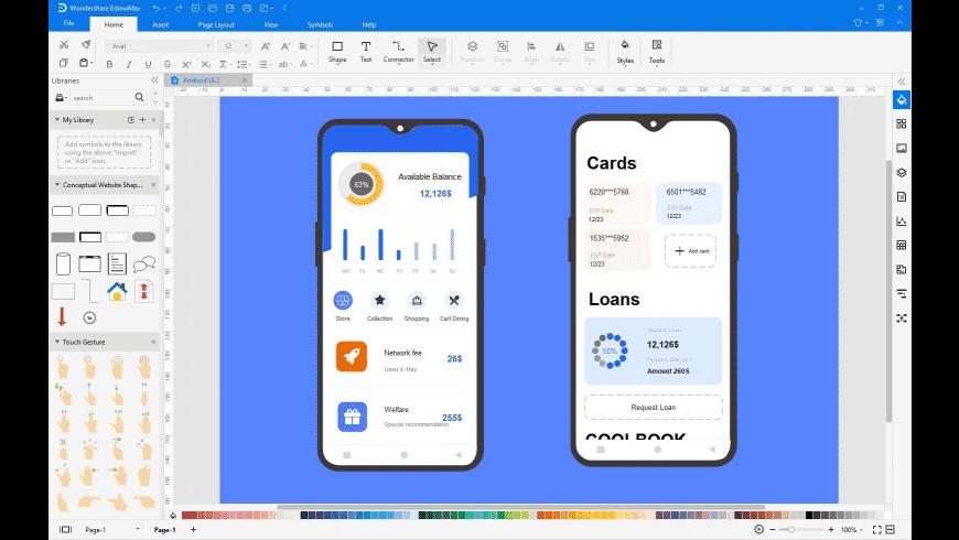 Wondershare EdrawMax for Mac - review, screenshots