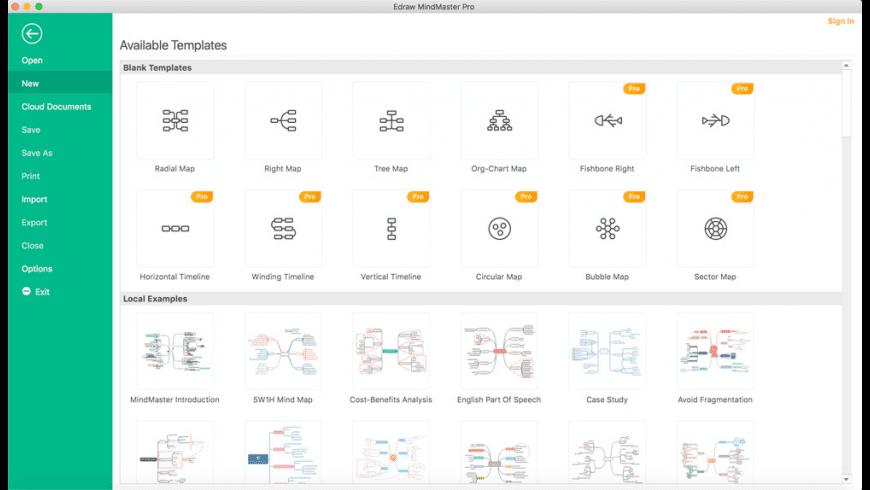 Wondershare MindMaster for Mac - review, screenshots