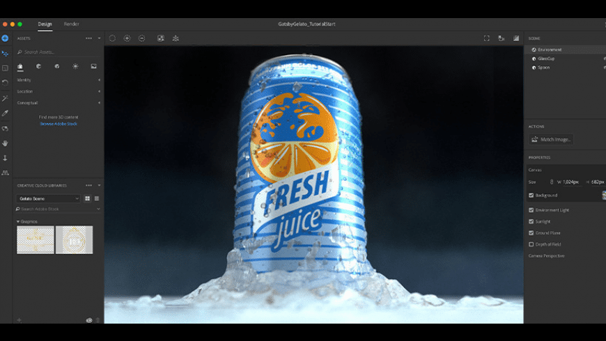 Adobe Dimension for Mac - review, screenshots
