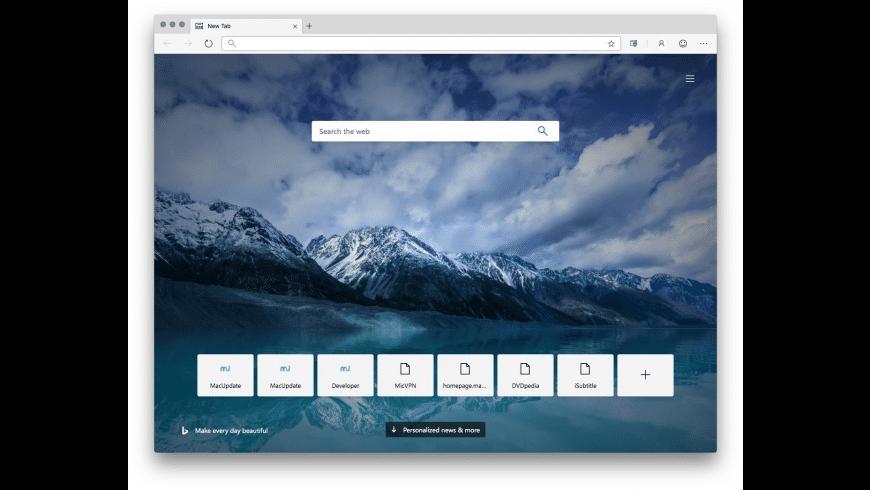 Microsoft Edge for Mac - review, screenshots