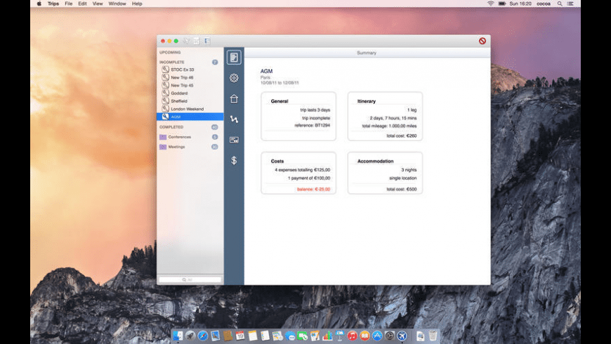 Trips for Mac - review, screenshots