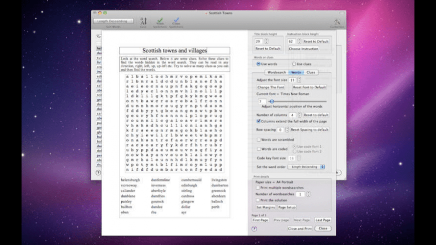 Word Search 4 for Mac - review, screenshots