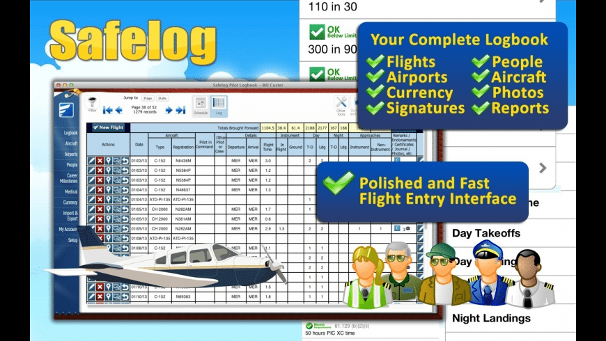 Safelog Pilot Logbook for Mac - review, screenshots