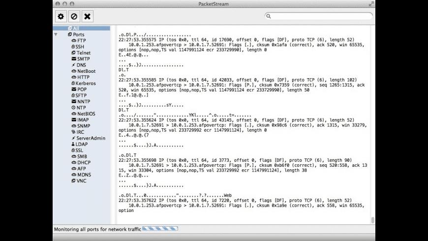 PacketStream for Mac - review, screenshots
