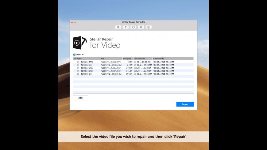 Stellar Repair for Video for Mac - review, screenshots
