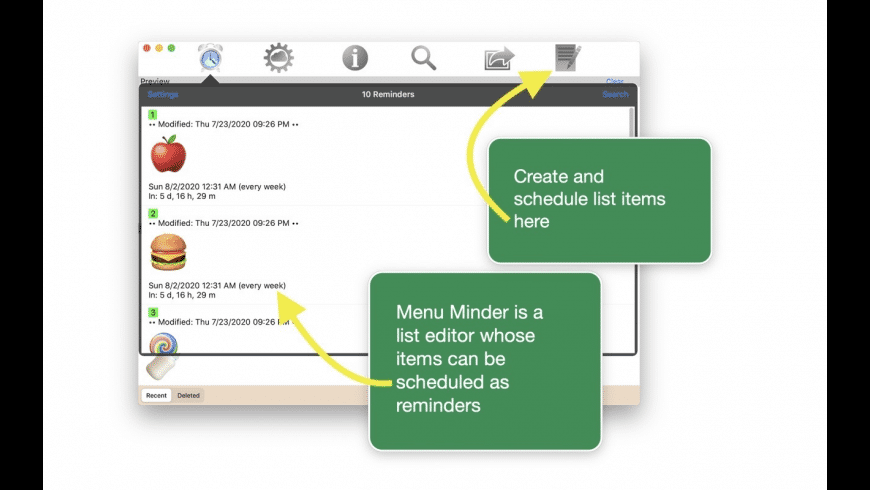 Menu Minder for Mac - review, screenshots