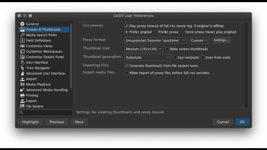 CatDV Pegasus for Mac - review, screenshots