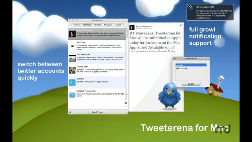 Tweeterena for Mac - review, screenshots